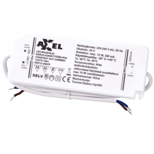 AXXEL LED muuntaja 220-240V 0-12W IP44