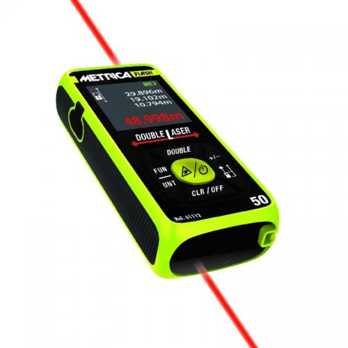 Metrica Lasermitta Double Flash 0,05-50m luokka II